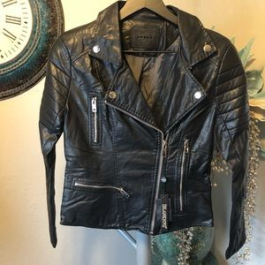 Blank NYC blank Vegan Leather Moto jacket